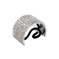 10 Line Rhinestone Dome Ponytail Holder 70442S