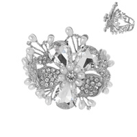 LRG FLOWER HINGED BRACELET