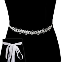 Rhinestone Wedding Tie Sash Belt Btm1723S