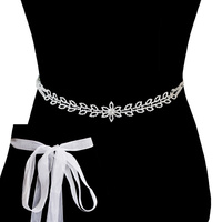 Rhinestone Wedding Tie Sash Belt Btm1724S