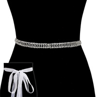 Rhinestone Wedding Tie Sash Belt Btm1729S