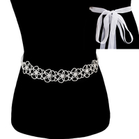 Rhinestone Wedding Tie Sash Belt Btm1737S