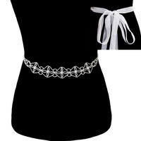 Rhinestone Wedding Tie Sash Belt Btm1745S