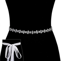Rhinestone Wedding Tie Sash Belt Btm834S