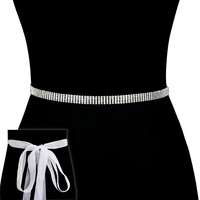 Rhinestone Wedding Tie Sash Belt Btm842S