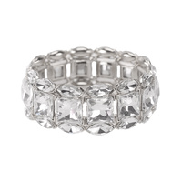 SQUARE DIAMOND STONE STRETCH BRACEL