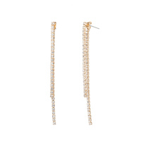 1 LINE FRONT AND BACK POST EARRING