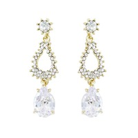 Dangly Teardop Cz Earrings Ecz1742Gcl