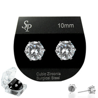 10Mm Cz Stud Earrings With Box Ecz1759Rcl