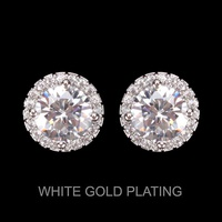 ROUND CUT CZ Stud Earrings