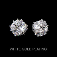 CRYSTAL CZ CUBED STUD EARRING
