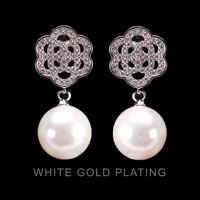 FILIGREE CUBIC ZIRCONIA EARRING