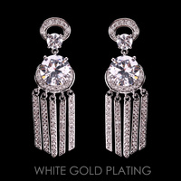 WIND CHIME STYLE CZ POST EARRING