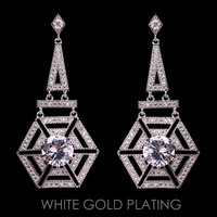 TOWERED CZ POST EARRING
