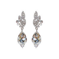 PAVE CLUSTER DROP EARRING
