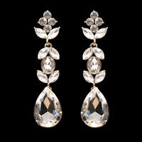FANCY LEAF TEARDROP STONE EARRING