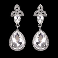 ROYAL MIRROR HALO STONE EARRING