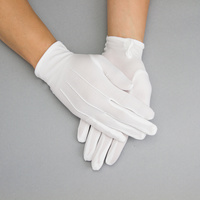 WHITE BRIDAL GLOVES W/CREASES ON FRONT LARG