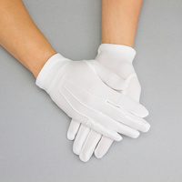 WHITE BRIDAL GLOVES W/CREASES ON FRONT XLAR