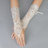 FISHNET STRIPED WEDDING GLOVES