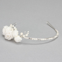 BRIDAL HEADBAND W/ PEARLS AND STONES