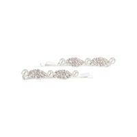 RHINESTONE AND PEARL BOBBY PIN SET