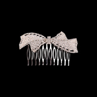DOUBLE BOW RHINESTONE HAIR COMB