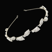 CROWN OF LEAVES PAVE HEADBAND