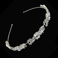 BRIDAL HAIR VINE HEADBAND WSMALL DIAMONDS
