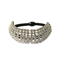Hsm1028S Rhinestone Dome And Elastic Ponytail Holder