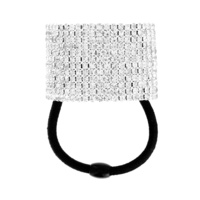 12 Line Rhinestone Ponytail Elastic Holder