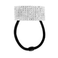 8 Line Rhinestone Ponytail Elastic Holder