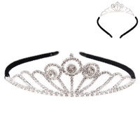 REGAL RHINESTONE HAIR CROWN