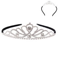 ROYAL RHINESTONE HAIR CROWN