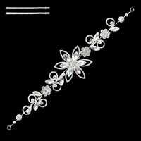 RHINESTONE FLORAL HAIR BAND