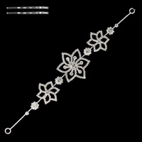 BENDABLE WIRE  RHINESTONE FLOWER HEADBAND