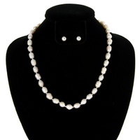 "19"" FRESH WATER PEARL NECKLACE SET"