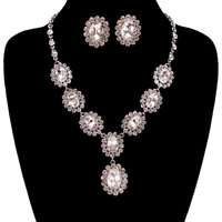 VICTORIAN OVAL STONE NECKLACE SET