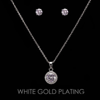 CIRCLE CZ CUBIC NECKLACE