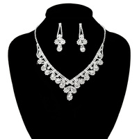TEARDROPS RHINESTONE NECK/ER SET