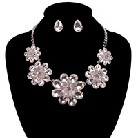 DRESSY RHINESTONE NECKLACE SET