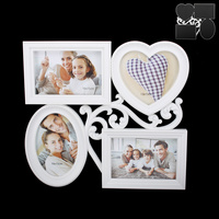 PUZZLE PICTURE FRAME 4-4X6 IN WHITE