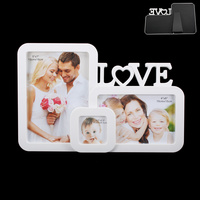 WHITE LOVE PHOTO FRAME 1-5X7 1-4X6 1-2X5