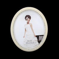 PEARL OVAL FRAME W/DIAMONDS 8X10