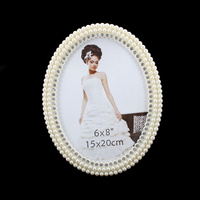PEARL OVAL FRAME W/DIAMONDS 6X8