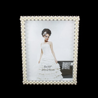 WEDDING FRAME W/PEARLS AND DIAMONDS 8X10
