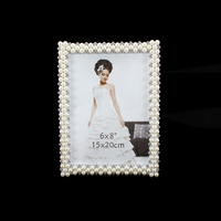 WEDDING FRAME W/ PEARLS AND DIAMONDS 6X8