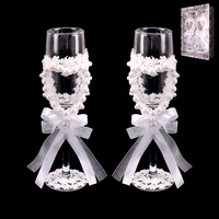 COUPLE HEART WEDDING WINE GLASSES