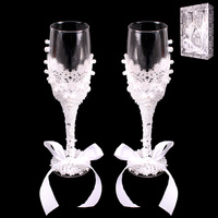 LACE CLASSY WEDDING WINE GLASSES
