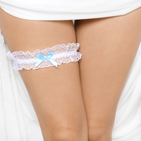 LACE GARTER BELT W/ BOW